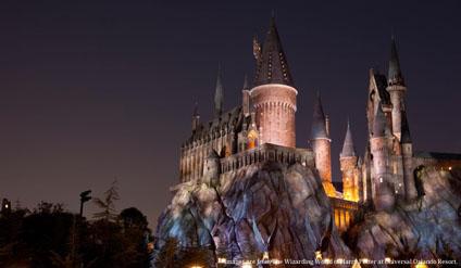 <新エリア「ウィザーディング・ワールド・オブ・ハリー・ポッター」に再現されたホグワーツ城>